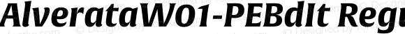 AlverataW01-PEBdIt Regular Version 1.00