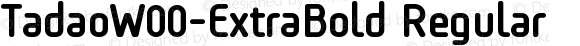 TadaoW00-ExtraBold Regular