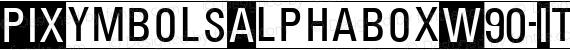 PIXymbolsAlphaboxW90-Italic Regular preview image