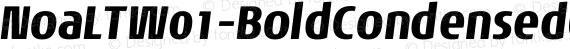 NoaLTW01-BoldCondensedObl Regular preview image