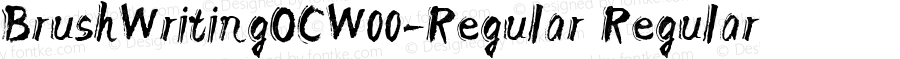 BrushWritingOCW00-Regular Regular Version 1.00