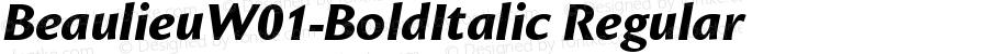 BeaulieuW01-BoldItalic Regular Version 1.00