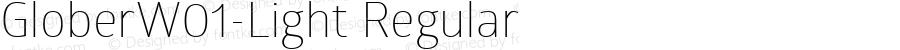 GloberW01-Light Regular Version 1.00