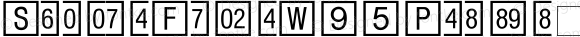 SquareFrameW95Positive Regular Version 1.00