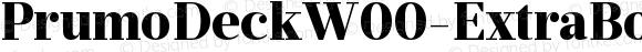 PrumoDeckW00-ExtraBold Regular Version 1.10