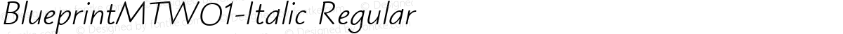 BlueprintMTW01-Italic Regular