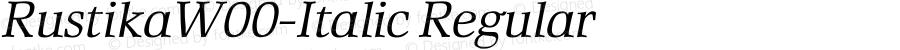 RustikaW00-Italic Regular Version 1.00
