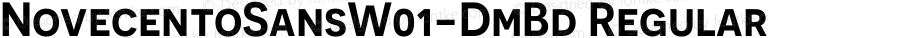 NovecentoSansW01-DmBd Regular Version 1.00