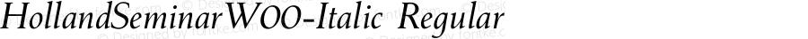 HollandSeminarW00-Italic Regular Version 1.1