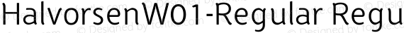 HalvorsenW01-Regular Regular preview image