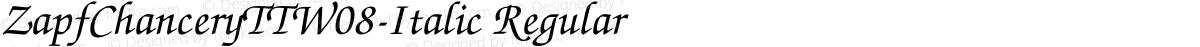 ZapfChanceryTTW08-Italic Regular