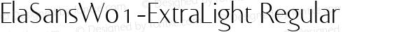 ElaSansW01-ExtraLight Regular Version 1.00