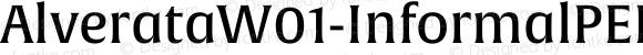 AlverataW01-InformalPEMd Regular Version 1.00