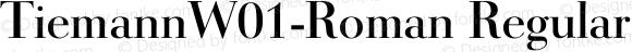 TiemannW01-Roman Regular Version 1.02