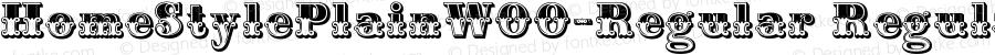 HomeStylePlainW00-Regular Regular Version 1.70