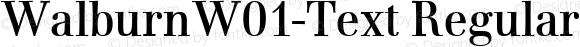 WalburnW01-Text Regular Version 1.00