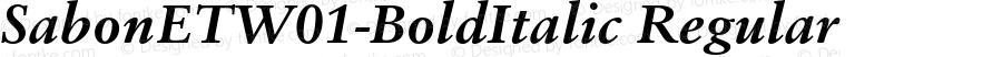 SabonETW01-BoldItalic Regular Version 1.00