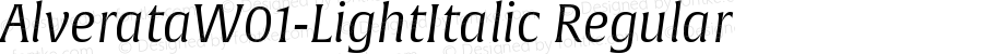 AlverataW01-LightItalic Regular Version 1.10