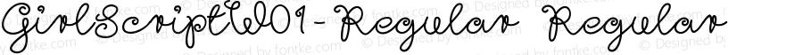 GirlScriptW01-Regular Regular Version 1.1