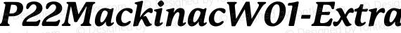 P22MackinacW01-ExtraBoldIt Regular preview image
