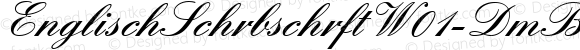 EnglischSchrbschrftW01-DmBd Regular Version 1.00