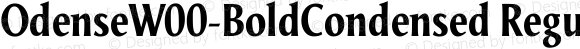 OdenseW00-BoldCondensed Regular Version 1.00