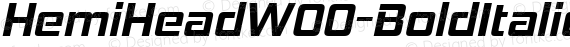 HemiHeadW00-BoldItalic Regular preview image