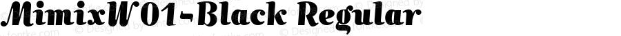 MimixW01-Black Regular Version 1.00
