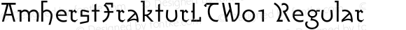 AmherstFrakturLTW01 Regular Version 2.2