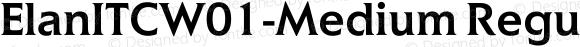 ElanITCW01-Medium Regular Version 1.01