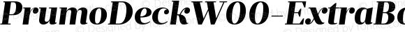PrumoDeckW00-ExtraBoldIt Regular Version 1.10