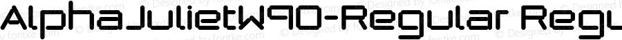AlphaJulietW90-Regular Regular Version 1.00