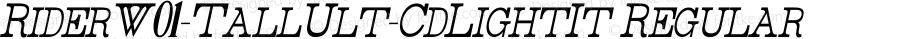 RiderW01-TallUlt-CdLightIt Regular Version 1.00