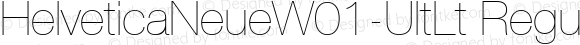HelveticaNeueW01-UltLt Regular Version 1.00