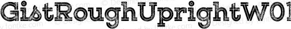 GistRoughUprightW01-BlkTwo Regular Version 1.00