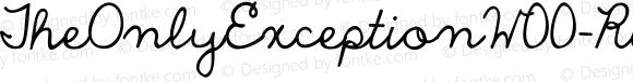 TheOnlyExceptionW00-Reg Regular Version 1.00