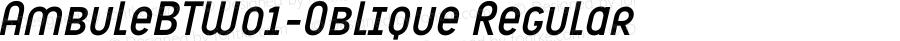 AmbuleBTW01-Oblique Regular Version 1.00