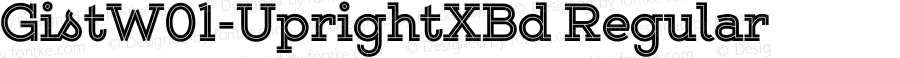 GistW01-UprightXBd Regular Version 1.00