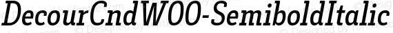 DecourCndW00-SemiboldItalic Regular preview image