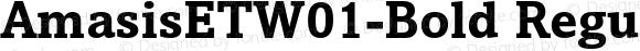 AmasisETW01-Bold Regular Version 1.00