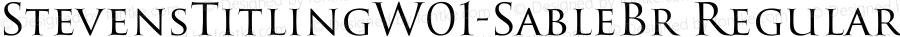 StevensTitlingW01-SableBr Regular Version 1.00