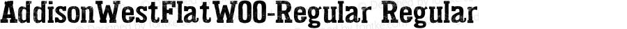 AddisonWestFlatW00-Regular Regular Version 1.00