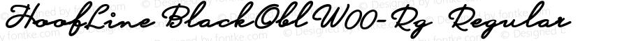 HoofLineBlackOblW00-Rg Regular Version 1.59