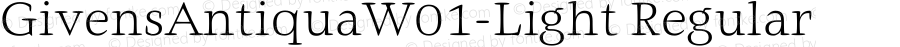 GivensAntiquaW01-Light Regular Version 1.01