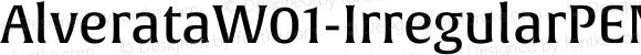 AlverataW01-IrregularPEMd Regular Version 1.00