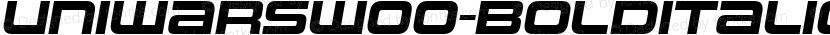UniwarsW00-BoldItalic Regular Preview Image