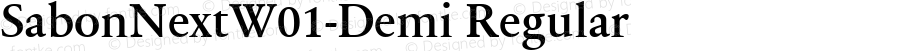 SabonNextW01-Demi Regular Version 1.01