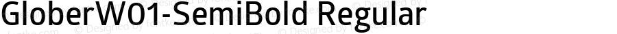 GloberW01-SemiBold Regular Version 1.00