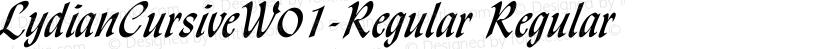 LydianCursiveW01-Regular Regular Preview Image
