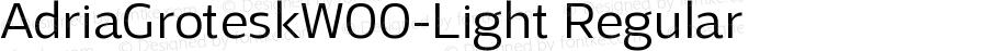 AdriaGroteskW00-Light Regular Version 1.10